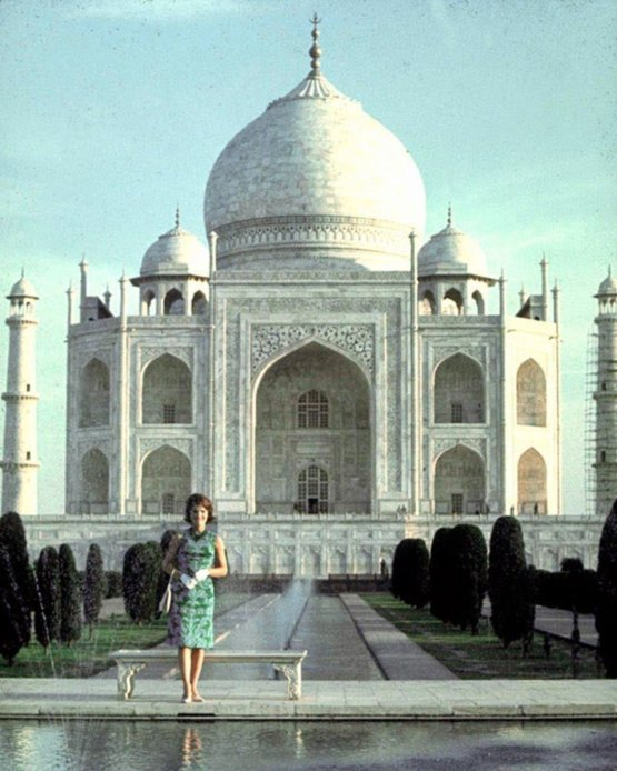 Jackie Kennedy visiting the Taj Mahal, 1962. Photograph by Art Rickerby.