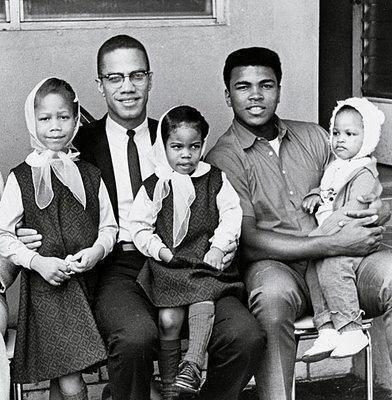 Malcom X, Muhammad Ali, and their little ones