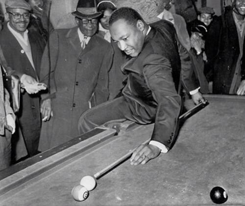 MLK playing billiards