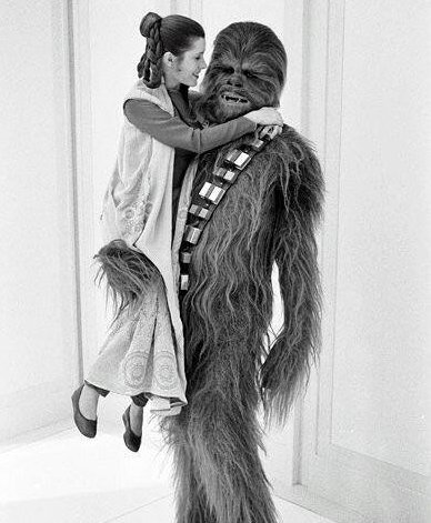 Princess Leia and Chewbacca, Star Wars