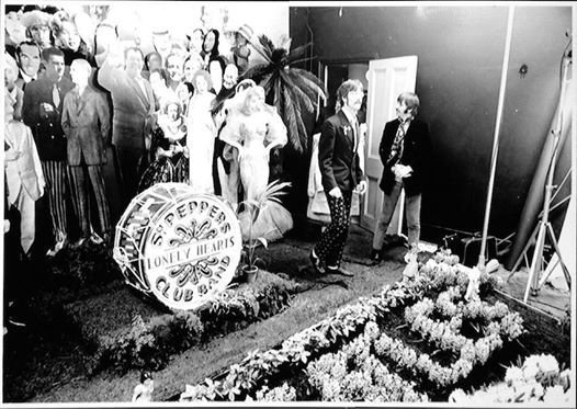 The Beatles during their photo shoot for Sgt. Peppers Lonely Hearts Club Band, March 30, 1967