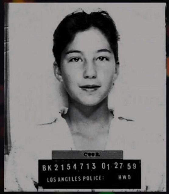 Cher's mugshot from when she was arrested at 13