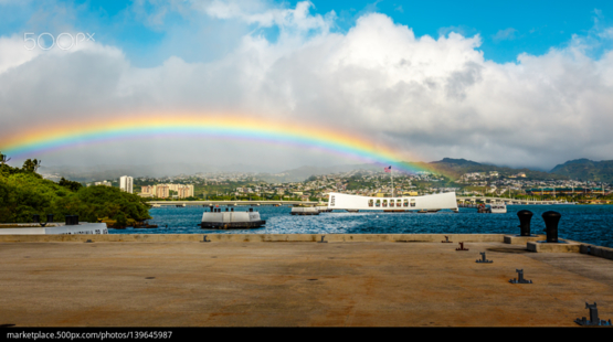 Rainbow over Pearl Harbor by Vladimir Tankhimovich