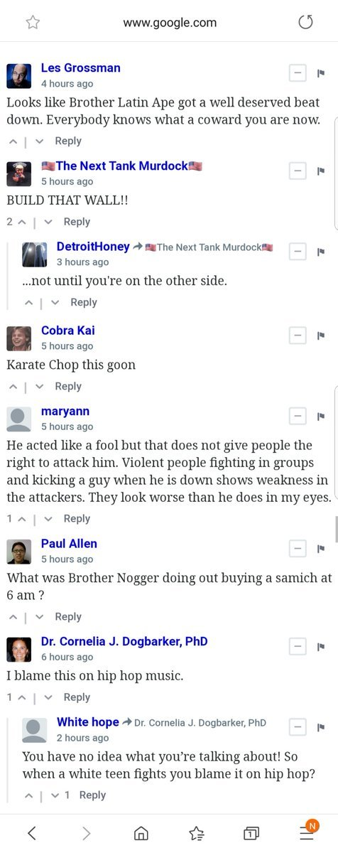 Why do all  comments look like this I didnt know this was where the racists met up.