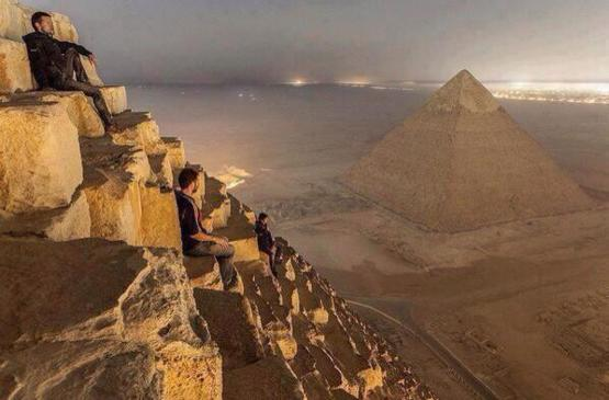 Awesome shot from the pyramids in Egypt.