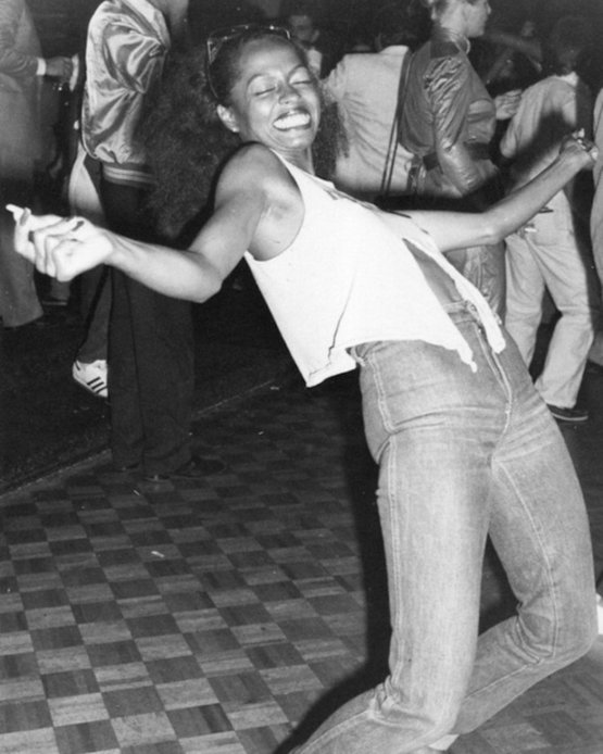 Diana Ross at Studio 54, circa 1979.