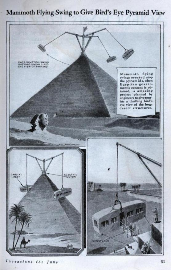 """Mammoth Flying Swing to Give Bird's Eye Pyramid View"", 1931"