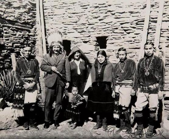 Einstein at the Grand Canyon, 1922. Photo by Eugene Omar Goldbeck.