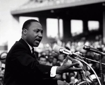 """""""We must accept finite disappointment but never lose infinite hope.""""  #MLKDay"""