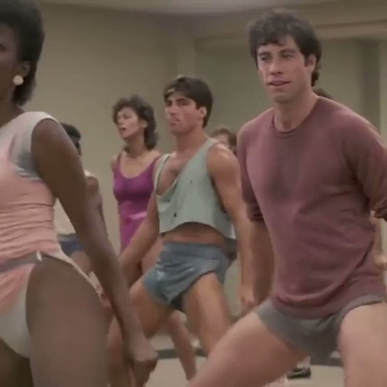 """John Travolta & Jamie Lee Curtis in """"Perfect"""" 1985 - leave a comment if you remember this movie."""