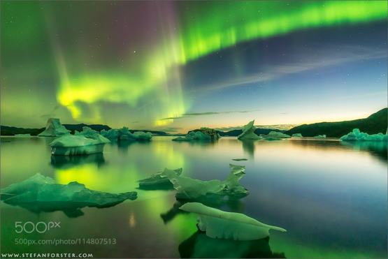 Greenland at Night #photography by Stefan Forster #aurora