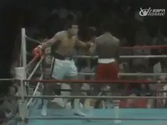 Muhammad Ali dodges 21 punches from 19-year-old Michael Dokes in 10 seconds, 1977.