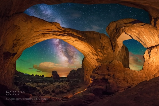 Double Arch From Inside #photo by Wayne Pinkston