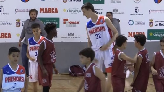 Olivier Rioux is only 12 years old and is almost 7 feet tall.  Read: