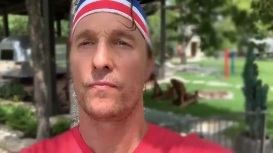 Happy July 4th to Matthew McConaughey and all of you :