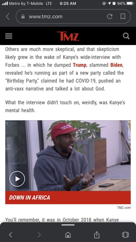 this man ain't crazy and I wish y'all would stop trying to paint this narrative!! We don't believe it anymore