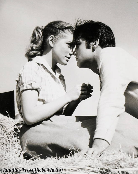 Dolores Hart and Elvis Presley, 1957.