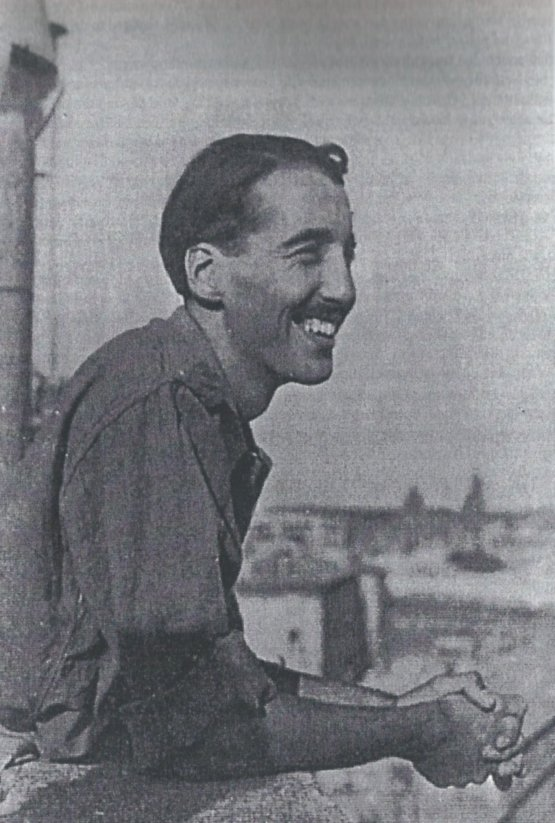 Christopher Lee as a young officer in Vatican City, 1944, shortly after the liberation of Rome.