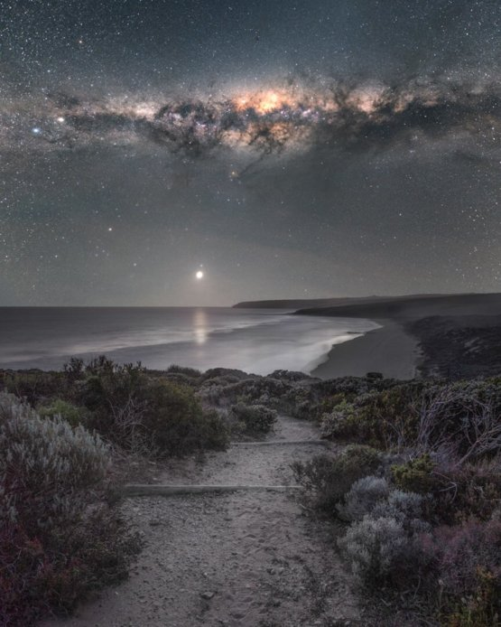 Jupiter glows in South Australia