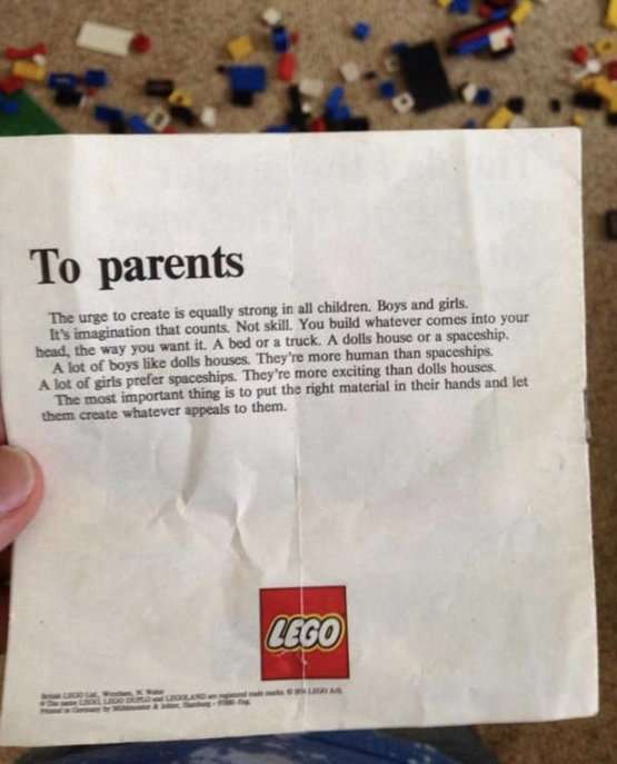 A Lego letter to parents from 1974 - I think  played with a lot of legos as a kid