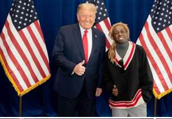 Lil Wayne should ask his good friend Trump to pardon him.