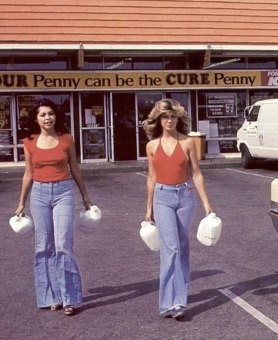 Street fashion in the 70s