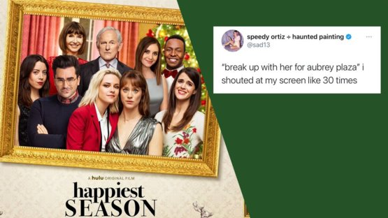 'Happiest Season' premiered and not everyone is thrilled with the ending of this love story.