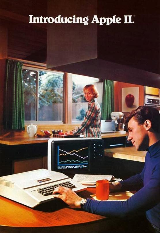 Vintage Apple Ad in the 1970s-80s