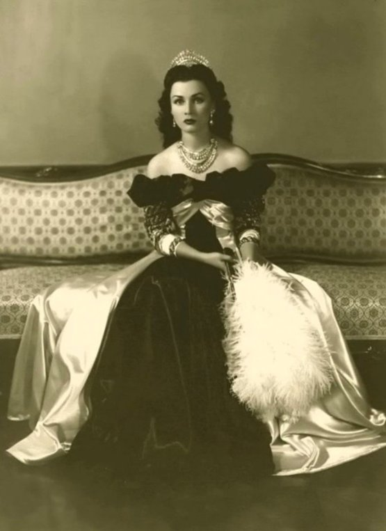 Fawzia Fuad of Egypt, 1940s. She was an Egyptian princess who became Queen of Iran.