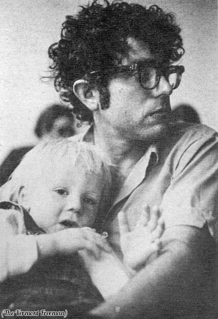 Bernie Sanders and his son, Levi, 1971.