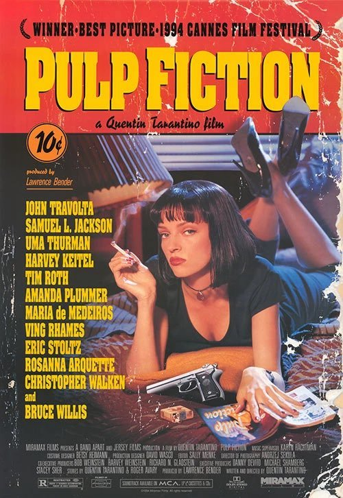 Pulp Fiction Movie Poster released October 14 1994