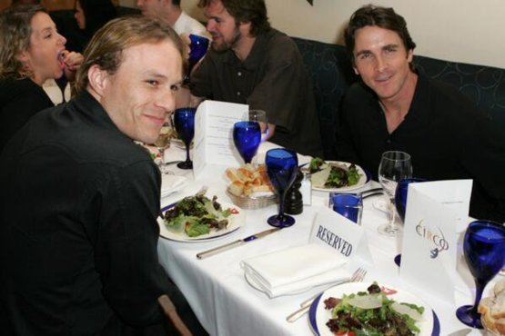 Last dinner between Christian Bale and Heath Ledger.