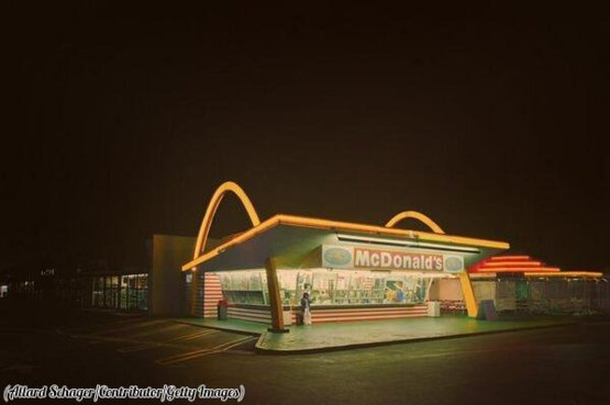America's oldest operating McDonald's in Downey, California, 1953.