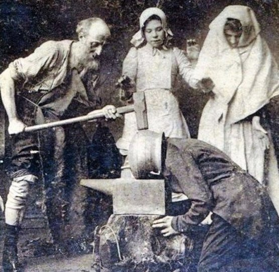 Vibration Therapy. A treatment for headaches in the 1890s.