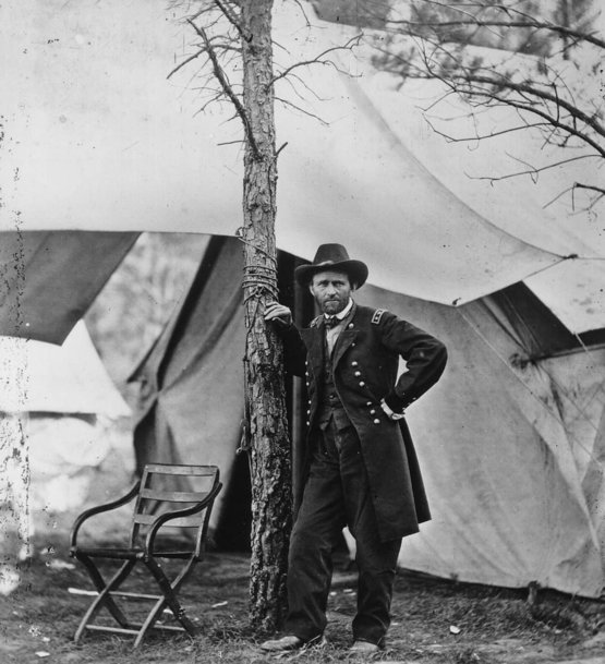 General Ulysses S. Grant during the Battle of Cold Harbor. June 1864.