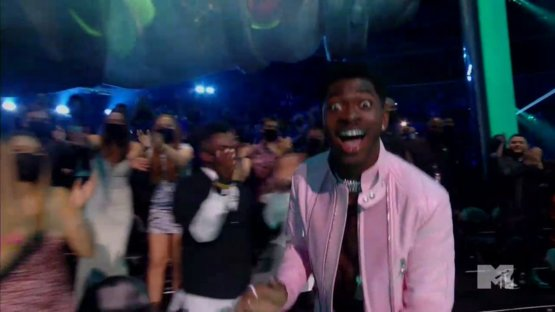 He was just as shocked to win Video of the Year too.  #VMAs