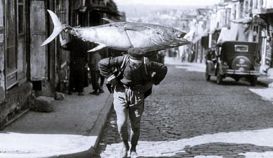 A fisherman in Istanbul, 1930.