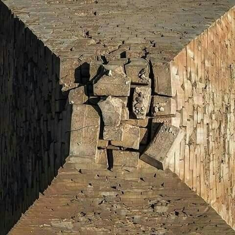 Top of the great #Pyramid of Giza #Egypt        #History
