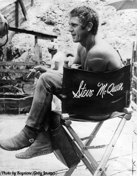 Steve McQueen on the set of 'Nevada Smith', 1966