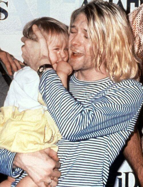 """""""Holding Frances in my arms is the best drug in the world."""" - Kurt Cobain"""